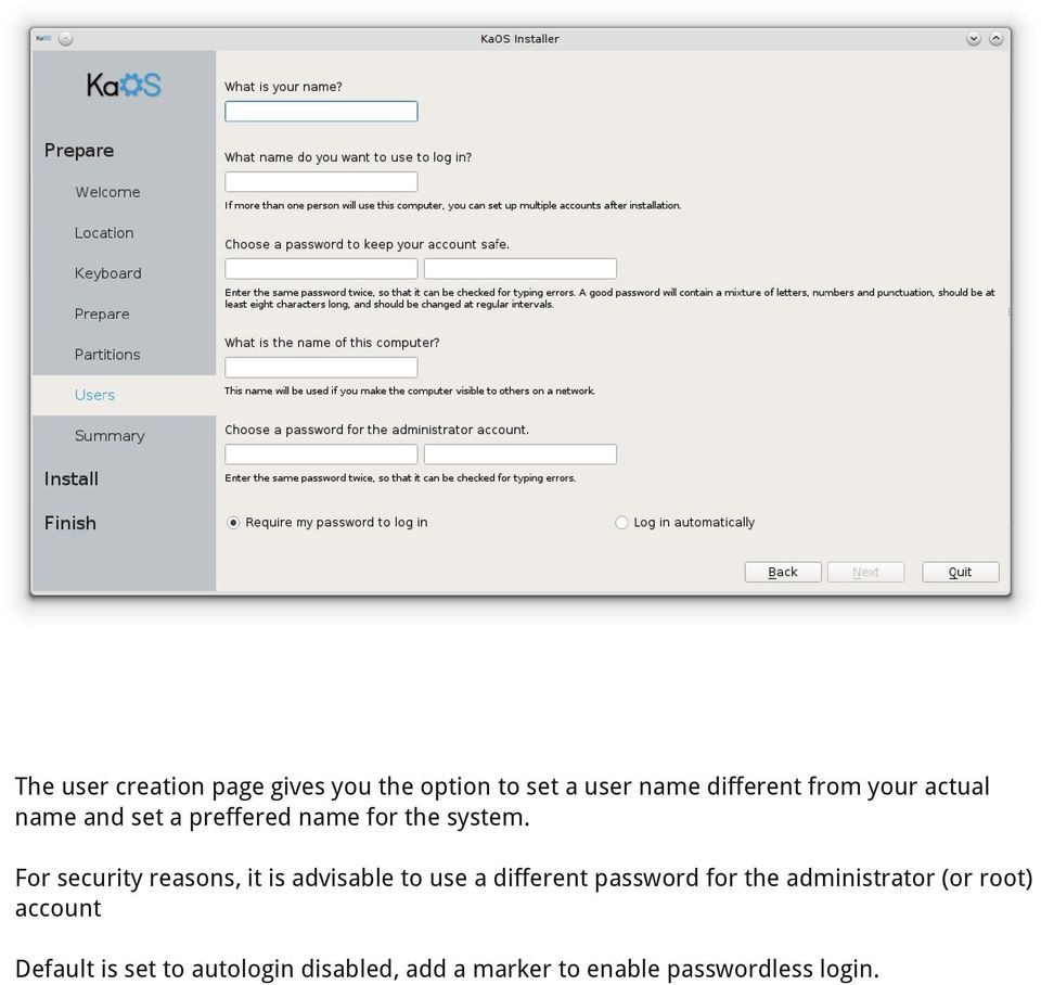 For security reasons, it is advisable to use a different password for the