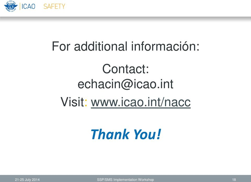 int Visit: www.icao.