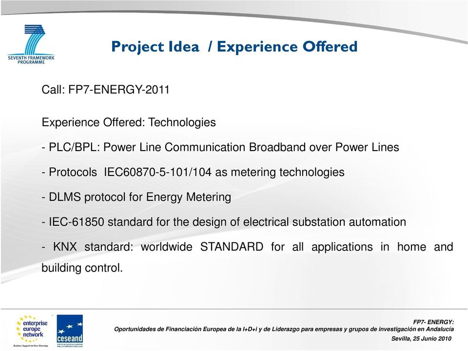 technologies - DLMS protocol for Energy Metering - IEC-61850 standard for the design of electrical