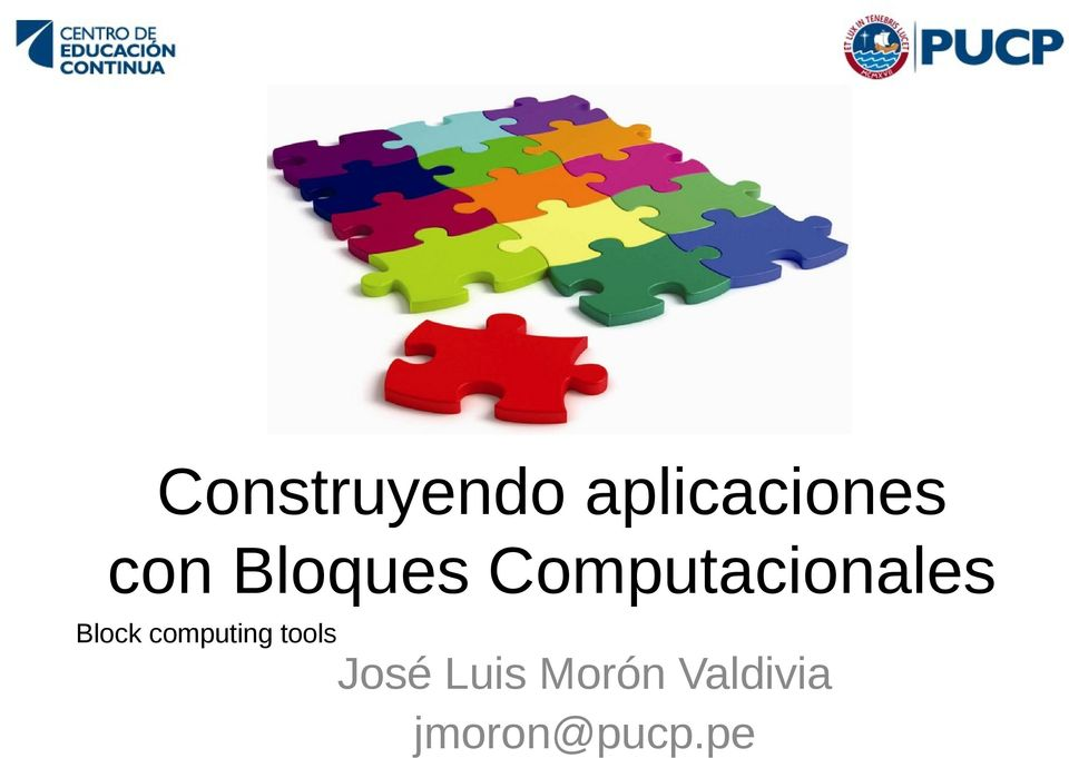 Block computing tools José