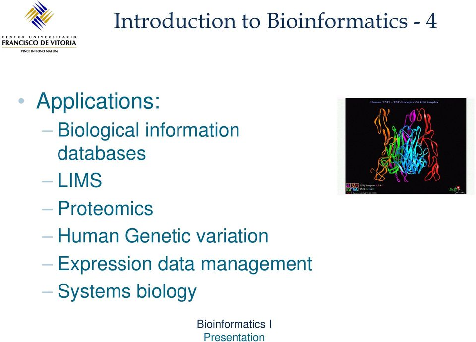 databases LIMS Proteomics Human Genetic