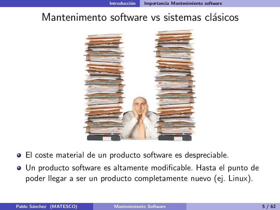 Un producto software es altamente modificable.