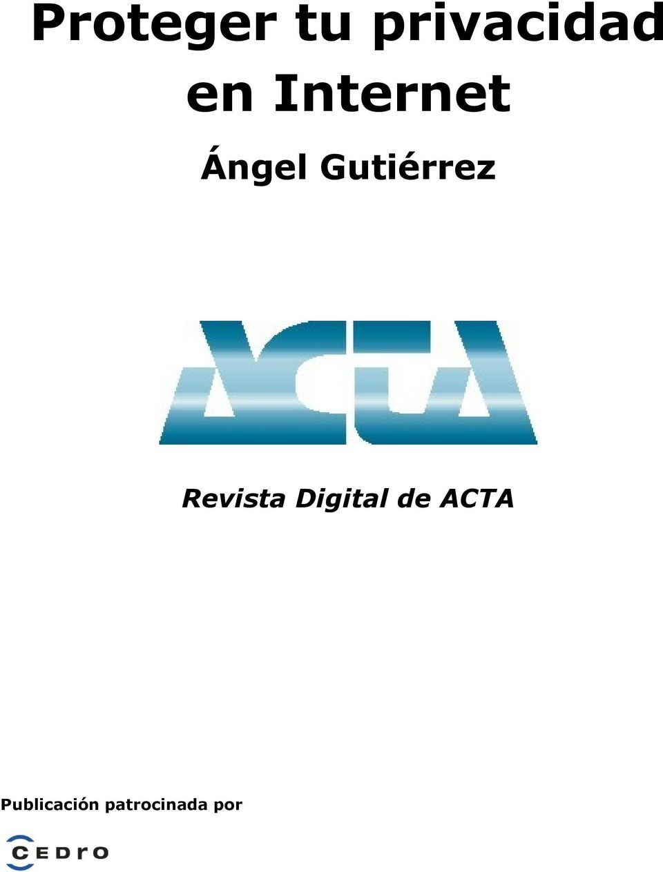 Revista Digital de ACTA
