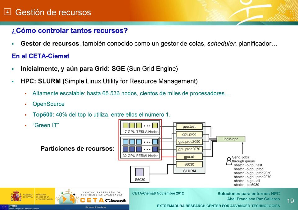 for Resource Management) Altamente escalable: hasta 65.