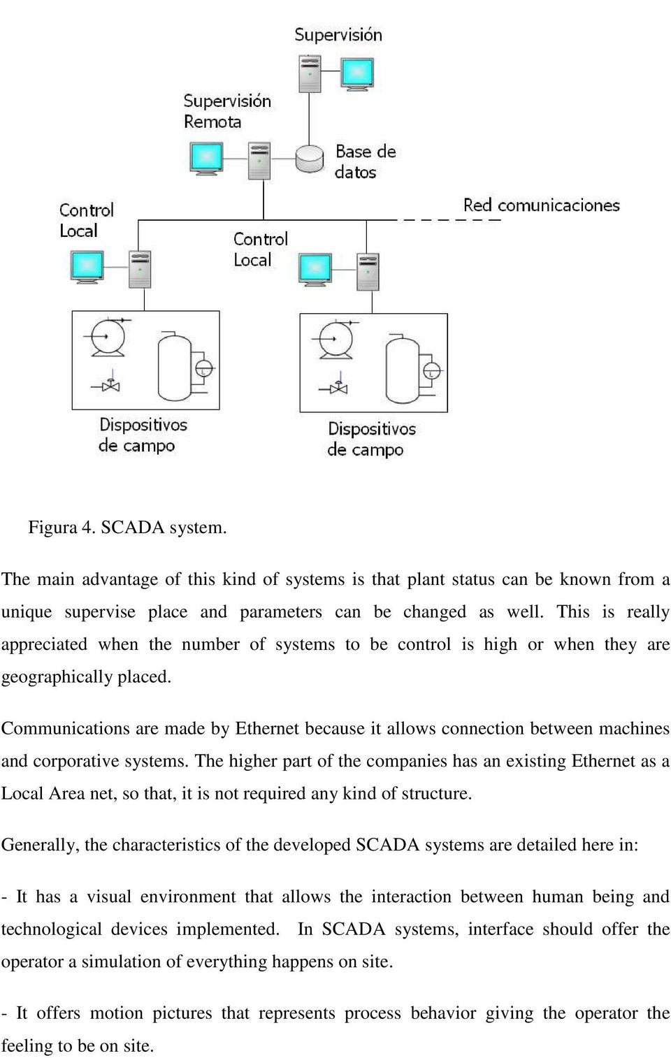 Communications are made by Ethernet because it allows connection between machines and corporative systems.