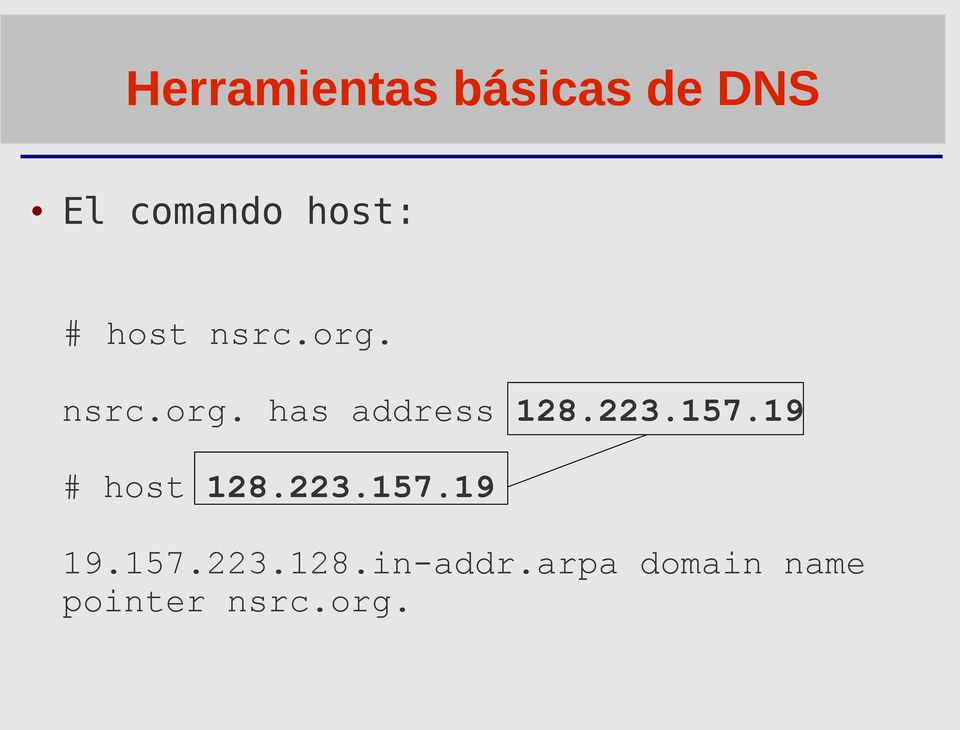 223.157.19 # host 128.223.157.19 19.157.223.128.in-addr.