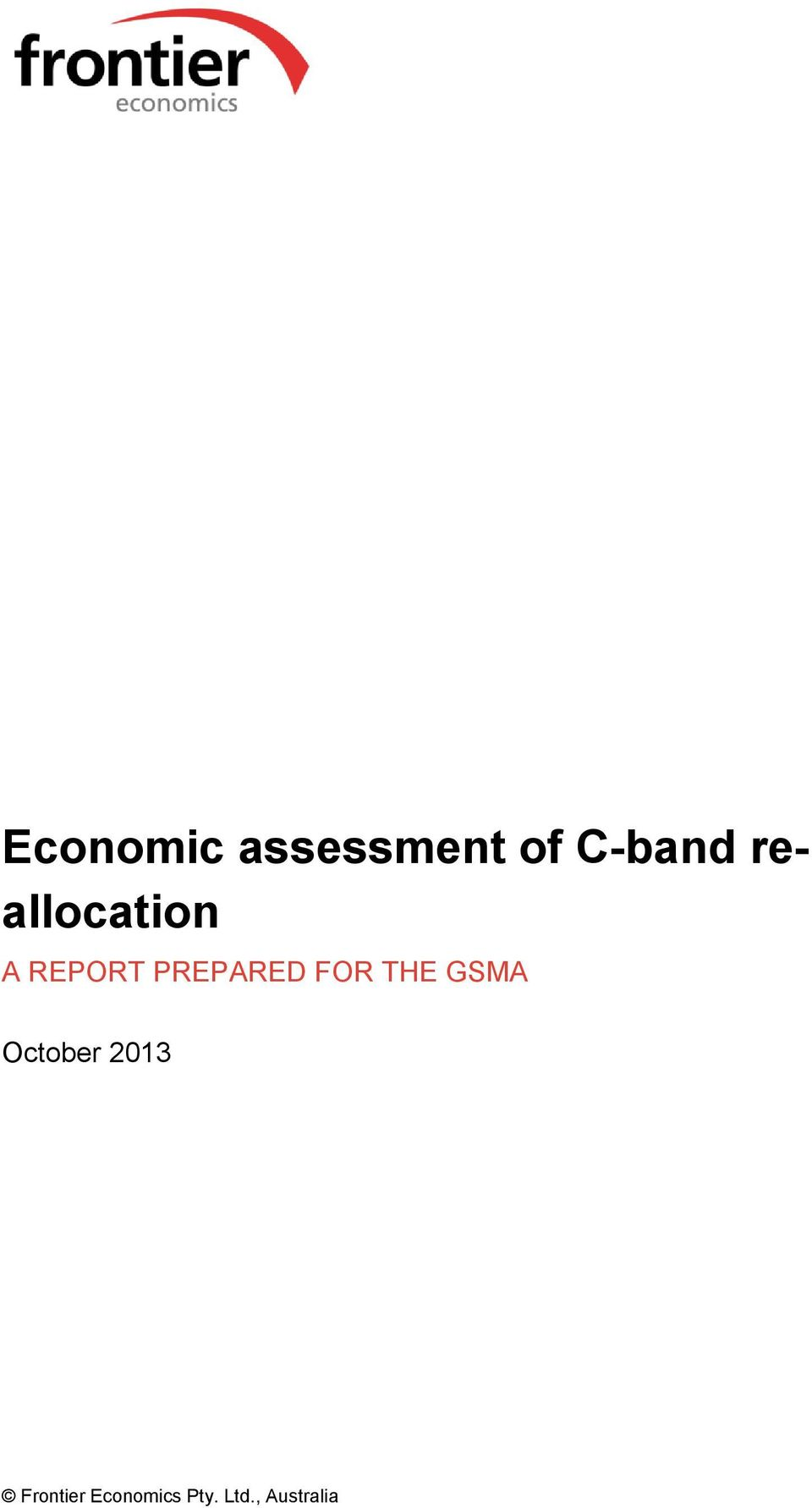 FOR THE GSMA October 2013