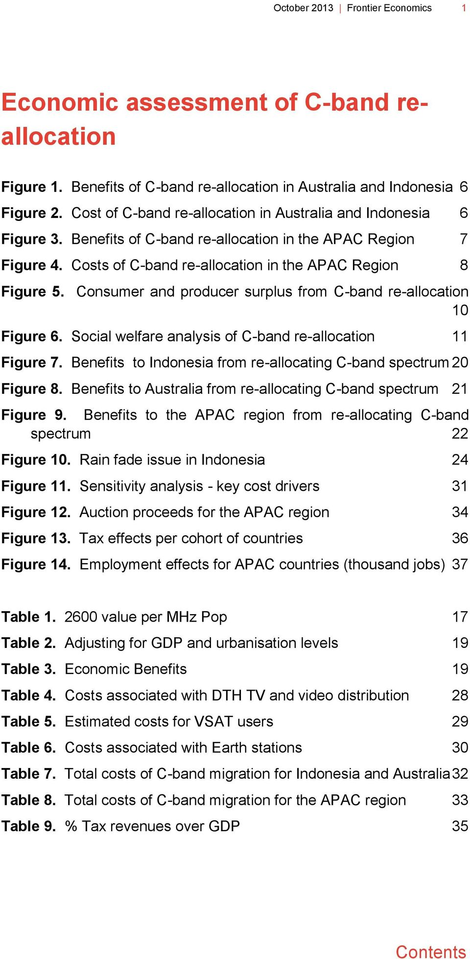 Consumer and producer surplus from C-band re-allocation 10 Figure 6. Social welfare analysis of C-band re-allocation 11 Figure 7. Benefits to Indonesia from re-allocating C-band spectrum 20 Figure 8.
