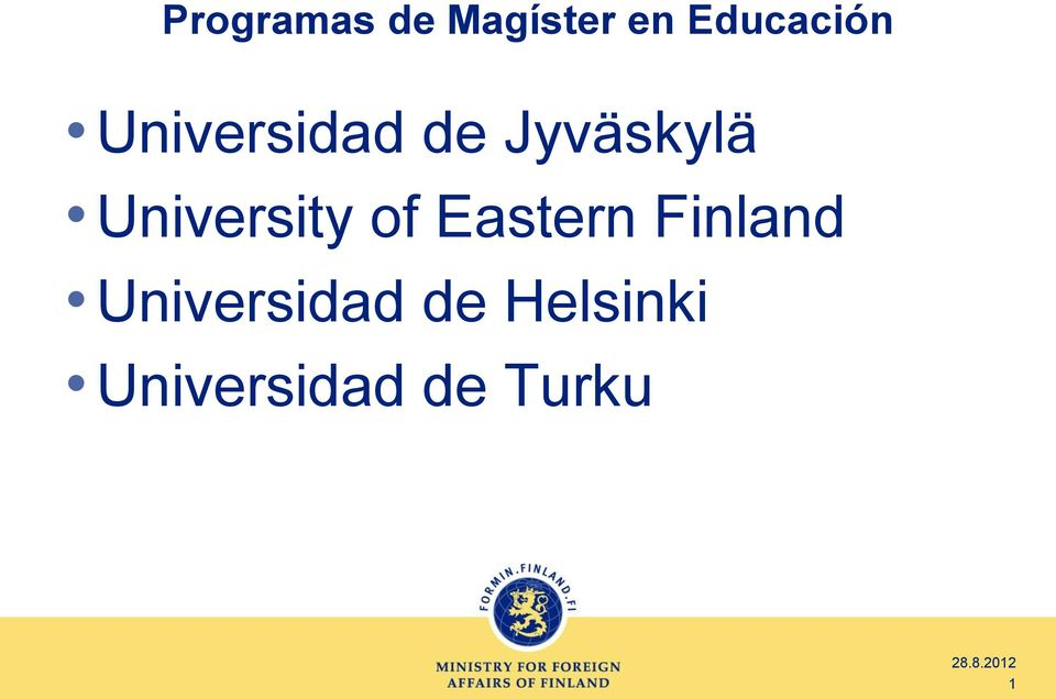 Jyväskylä University of Eastern