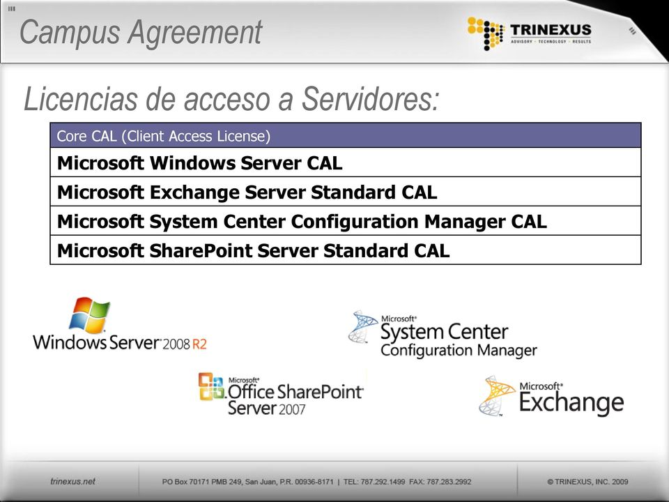 Microsoft Exchange Server Standard CAL Microsoft System