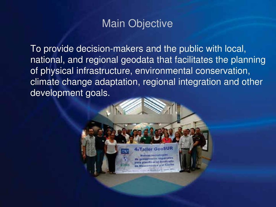 planning of physical infrastructure, environmental conservation,