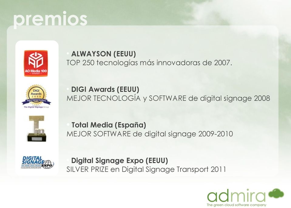 2008 Total Media (España) MEJOR SOFTWARE de digital signage 2009-2010