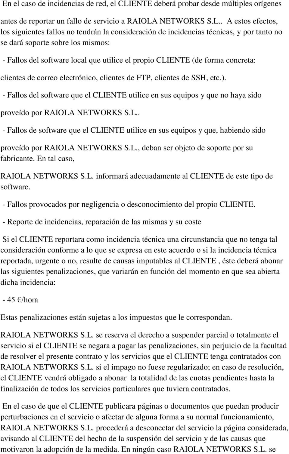 NETWORKS S.L.