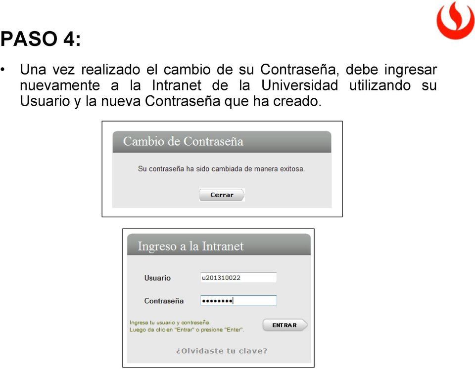Intranet de la Universidad utilizando su