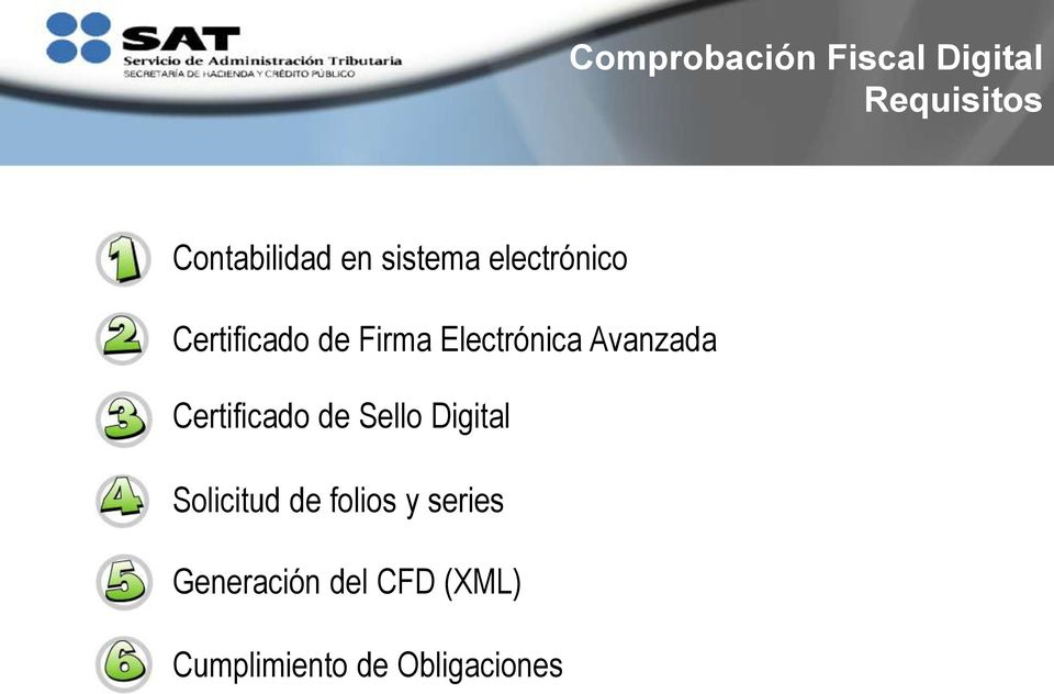 Avanzada Certificado de Sello Digital Solicitud de