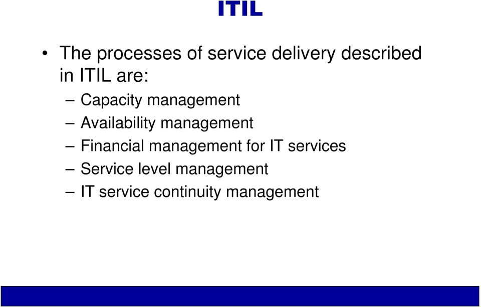 management Financial management for IT services