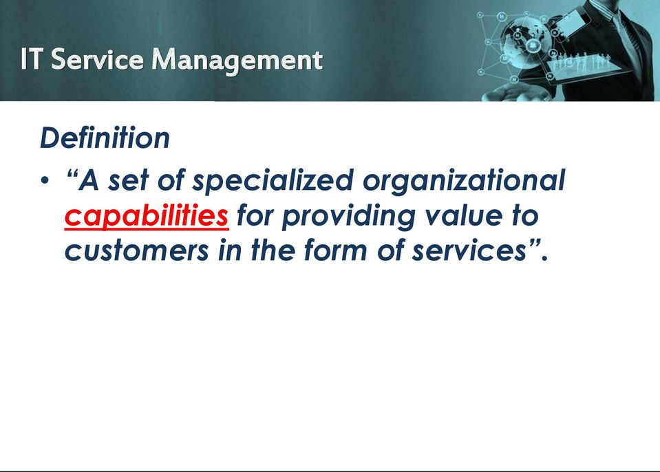 capabilities for providing value