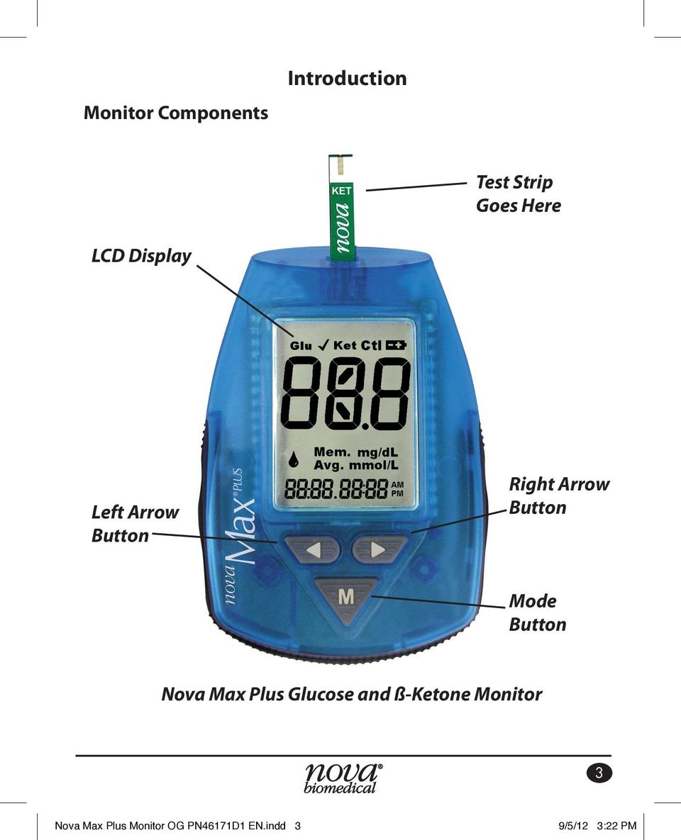 Button Nova Max Plus Glucose and ß-Ketone Monitor 3