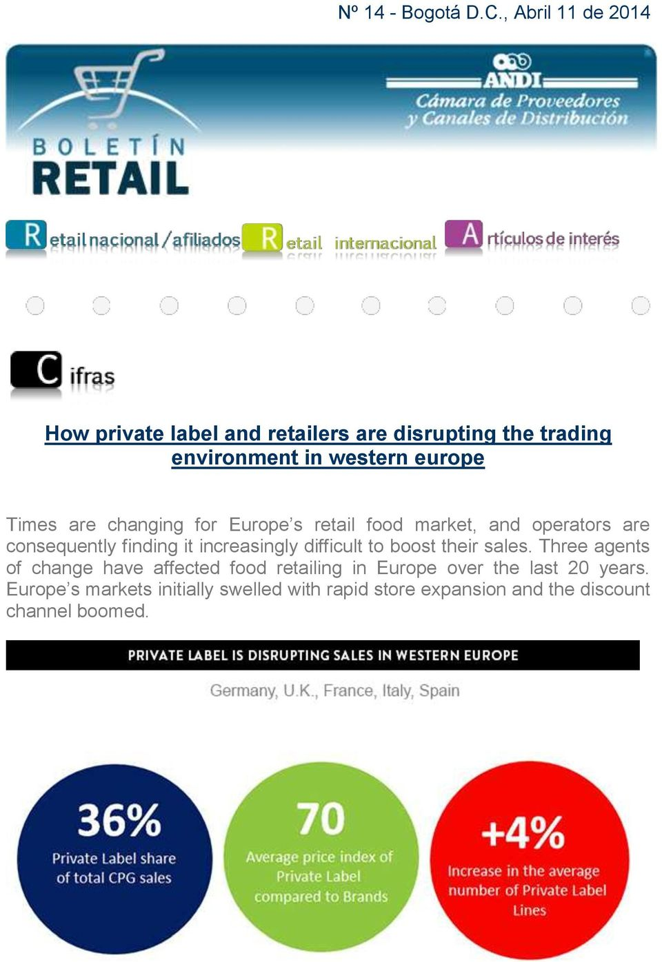 Times are changing for Europe s retail food market, and operators are consequently finding it increasingly