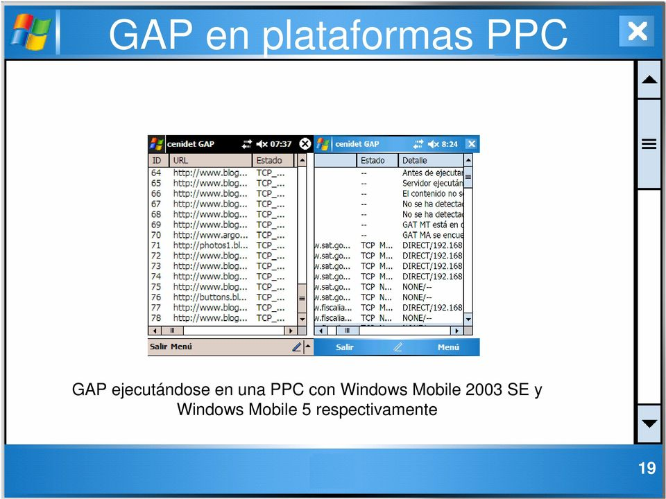 Windows Mobile 2003 SE y