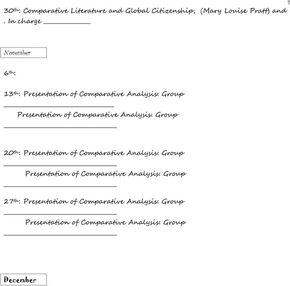 Comparative Analysis: Group 20 th : Presentation of Comparative Analysis: Group Presentation of