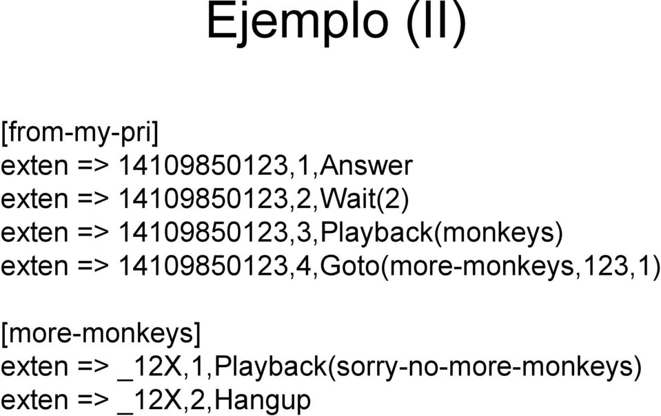 exten => 14109850123,4,Goto(more-monkeys,123,1) [more-monkeys]