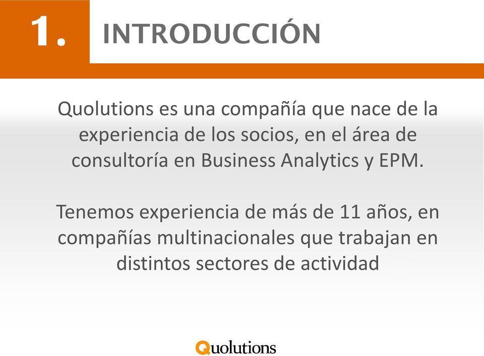 Business Analytics y EPM.