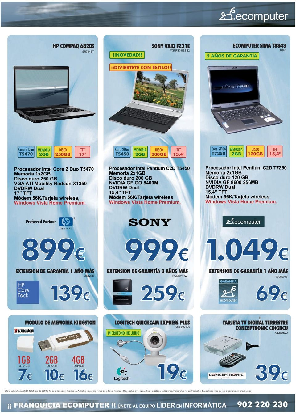 ATI Mobility adeon X1350 DVDW Dual 17 TFT Módem 56K/Tarjeta wireless, Windows Vista Home Premium.