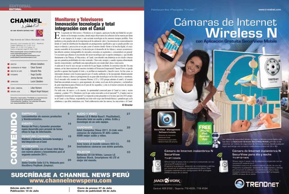 channelnewsperu.com e-mail: director@channelnewsperu.com publicidad@channelnewsperu.