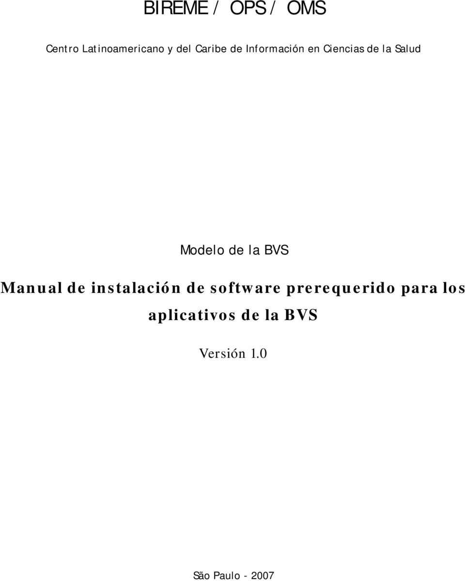 Modelo Manual de instalación de software