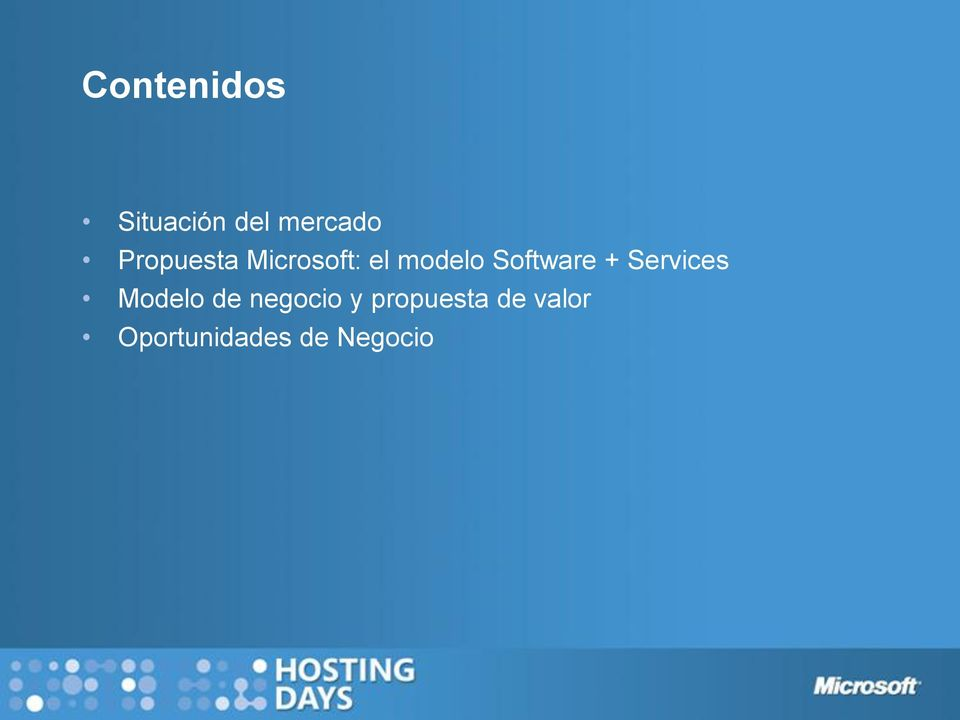 Software + Services Modelo de