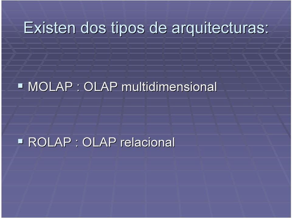 OLAP multidimensional