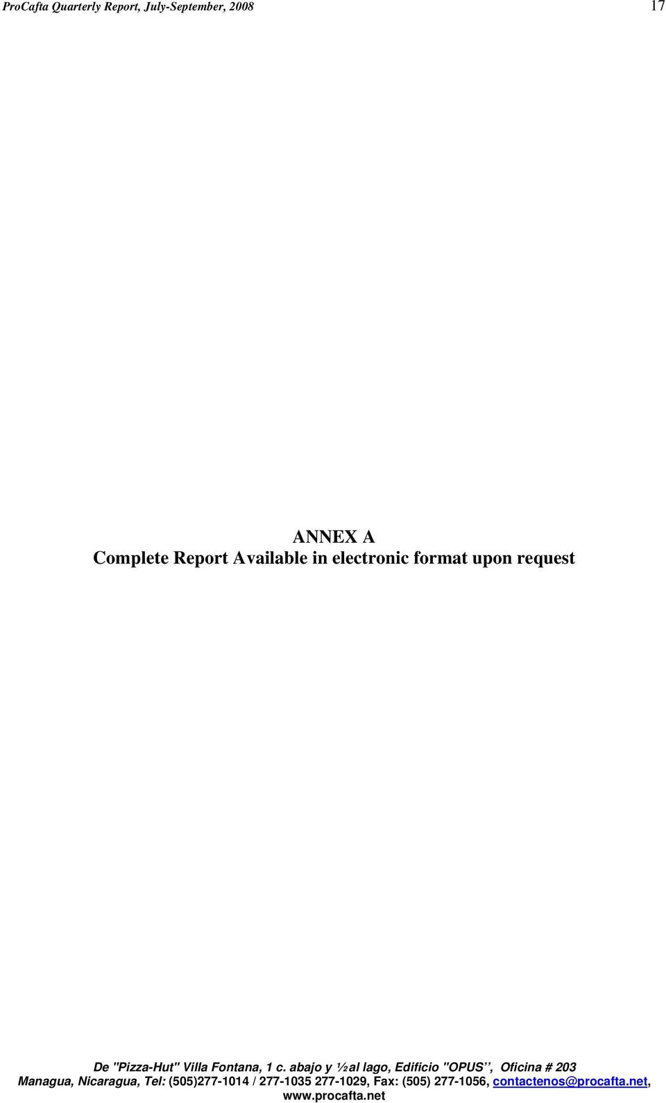 A Complete Report Available