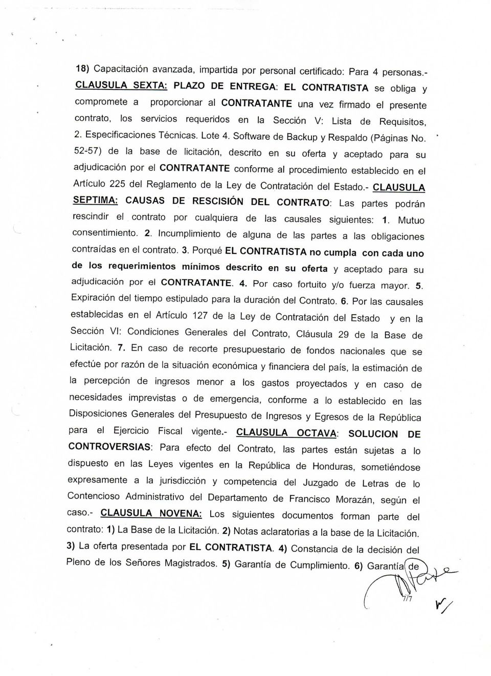 Requisitos, 2. Especificaciones Técnicas. Lote 4. Software de Backup y Respaldo (Páginas No.