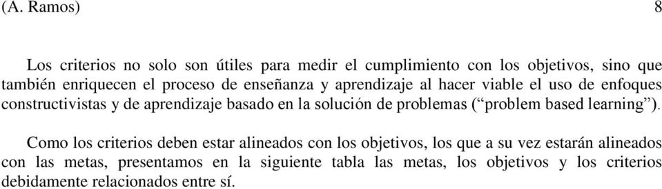 de problemas ( problem based learning ).