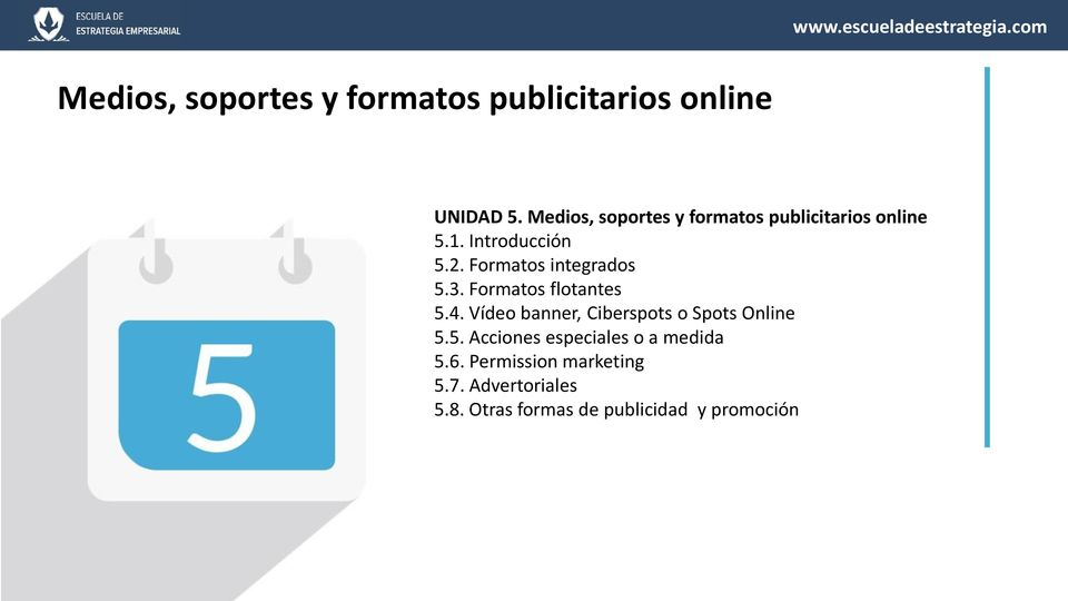 Formatos integrados 5.3. Formatos flotantes 5.4.