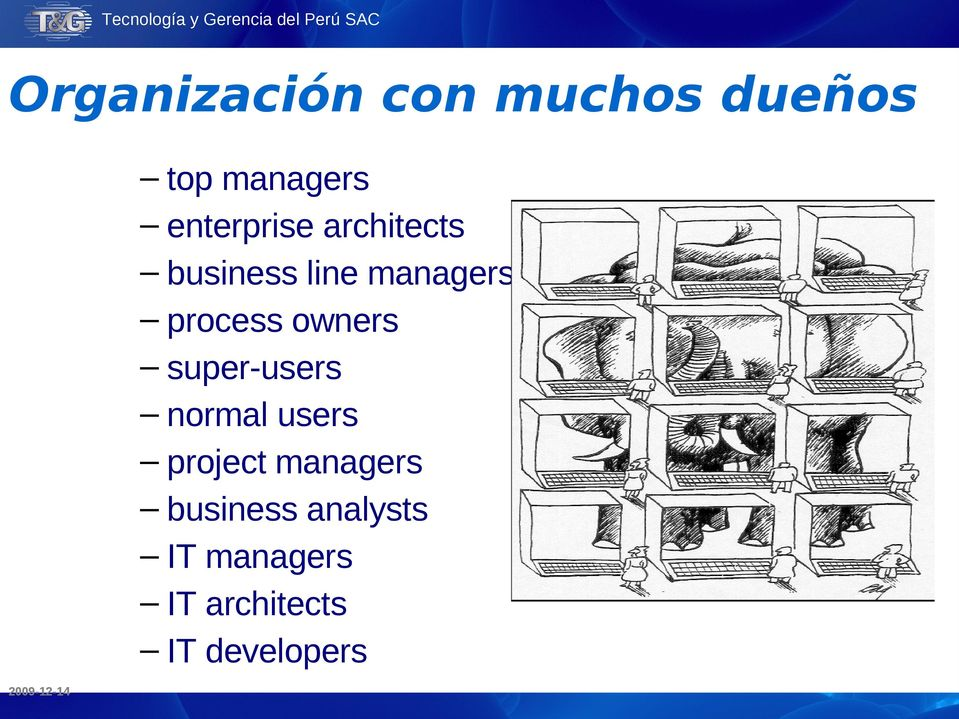 normal users project managers business analysts IT managers IT