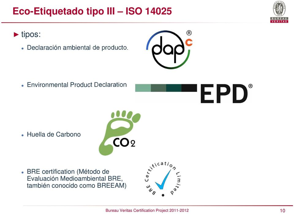 Environmental Product Declaration Huella de Carbono BRE