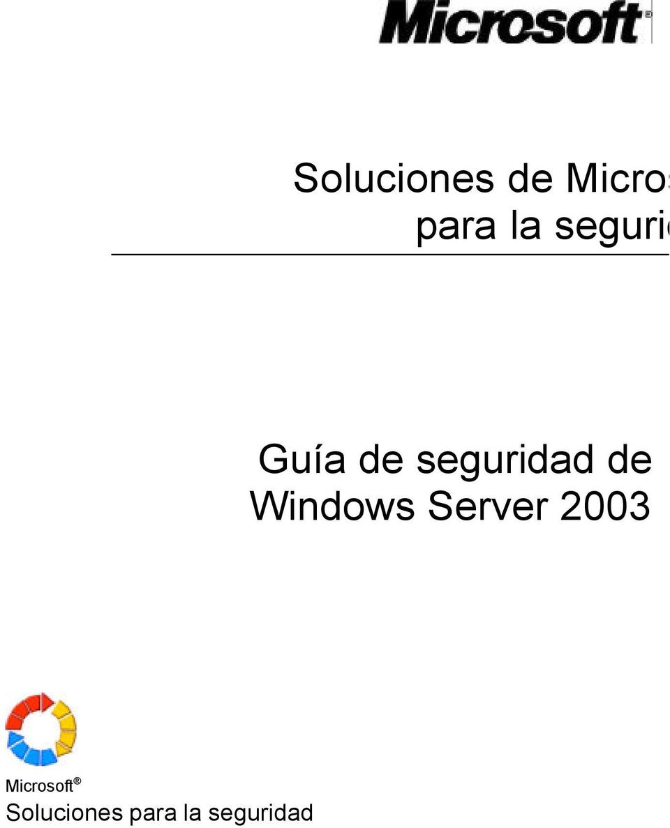 Windows Server 2003 Microsoft