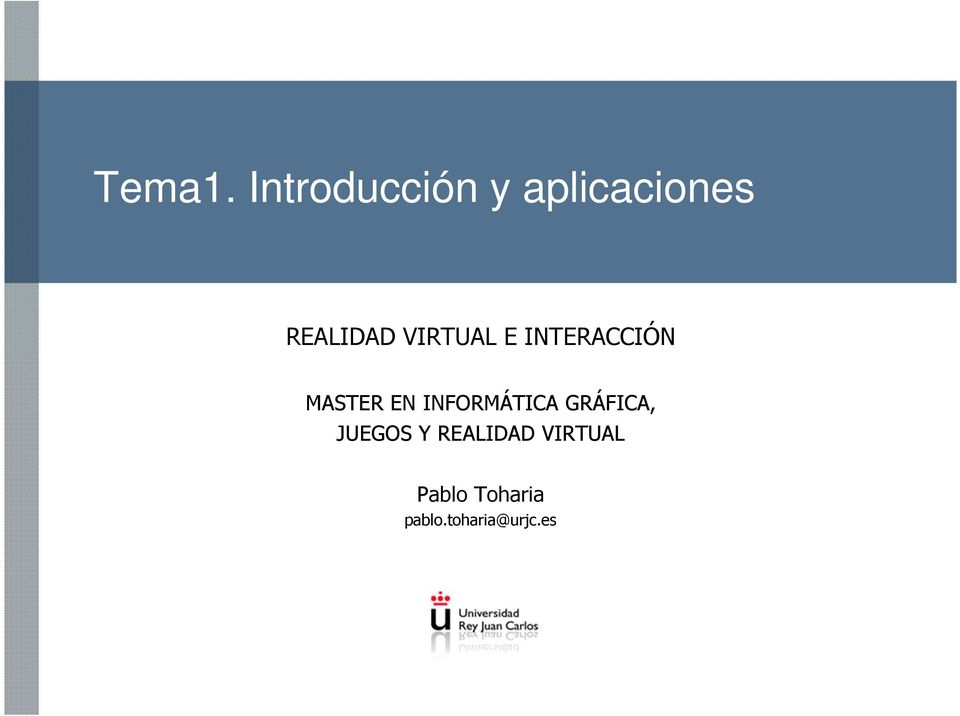 VIRTUAL E INTERACCIÓN MASTER EN