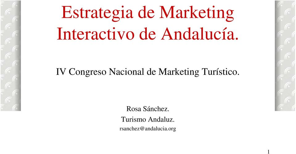 IV Congreso Nacional de Marketing
