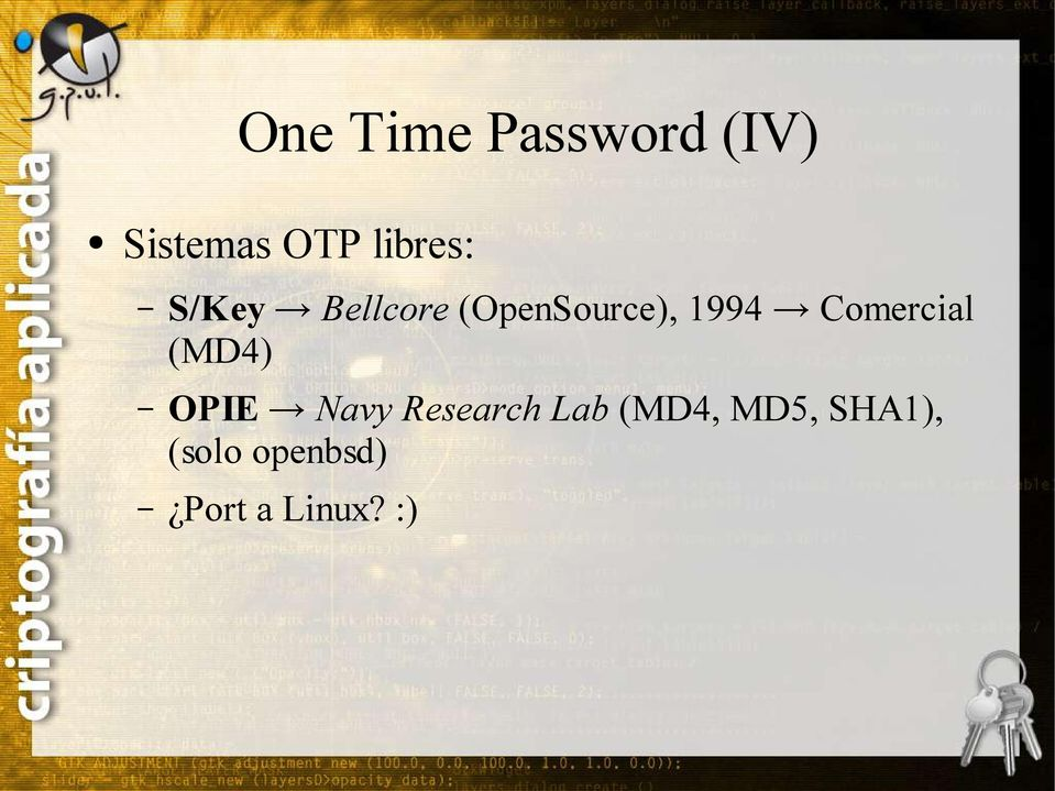 Comercial (MD4) OPIE Navy Research Lab