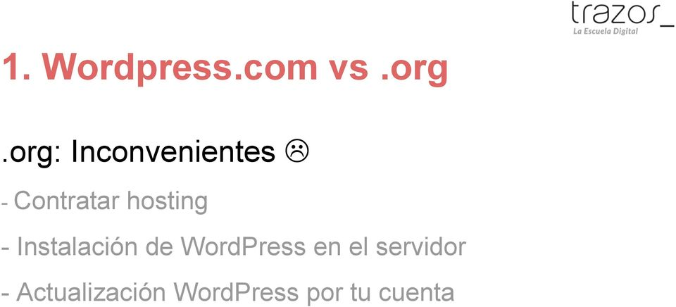 hosting - Instalación de WordPress
