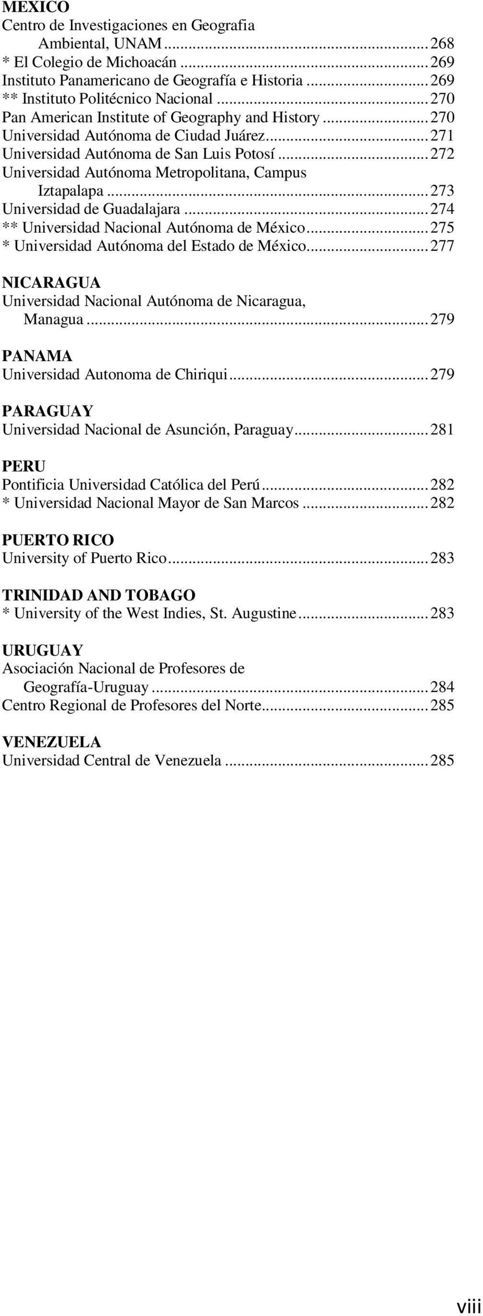 Guide to Geography Programs in the Americas - PDF