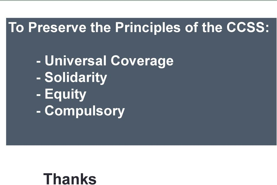 Universal Coverage -