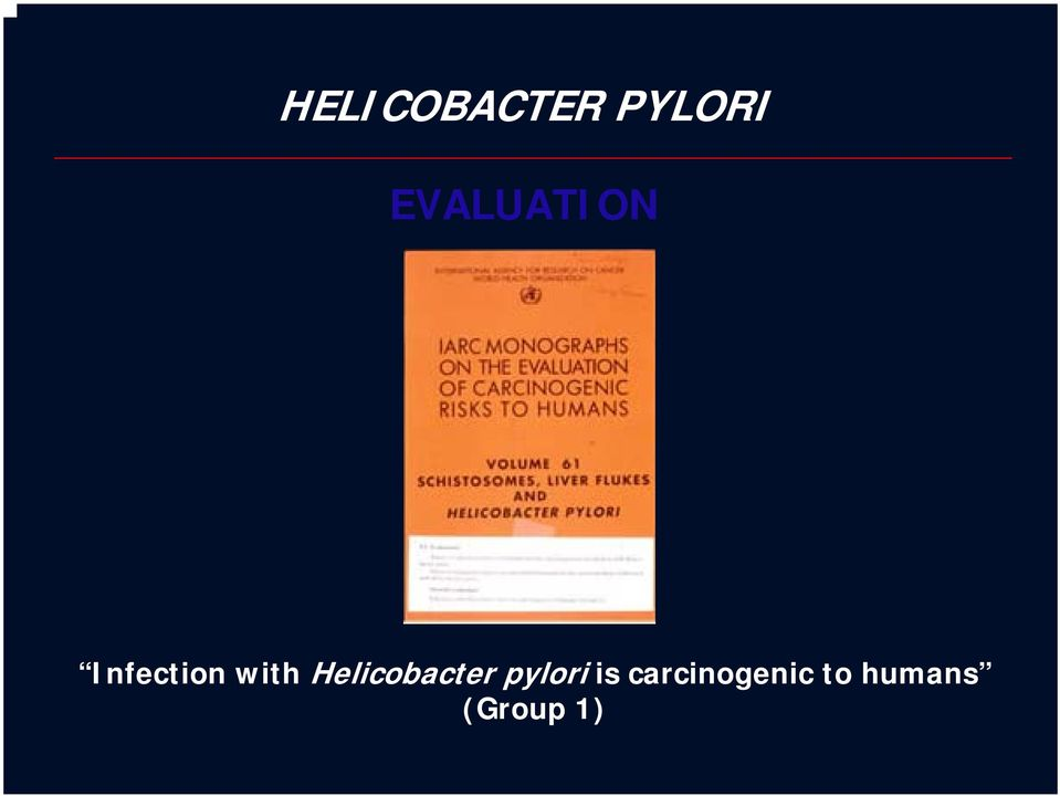 with Helicobacter pylor