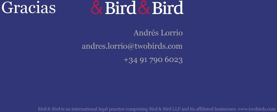 international legal practice comprising Bird &