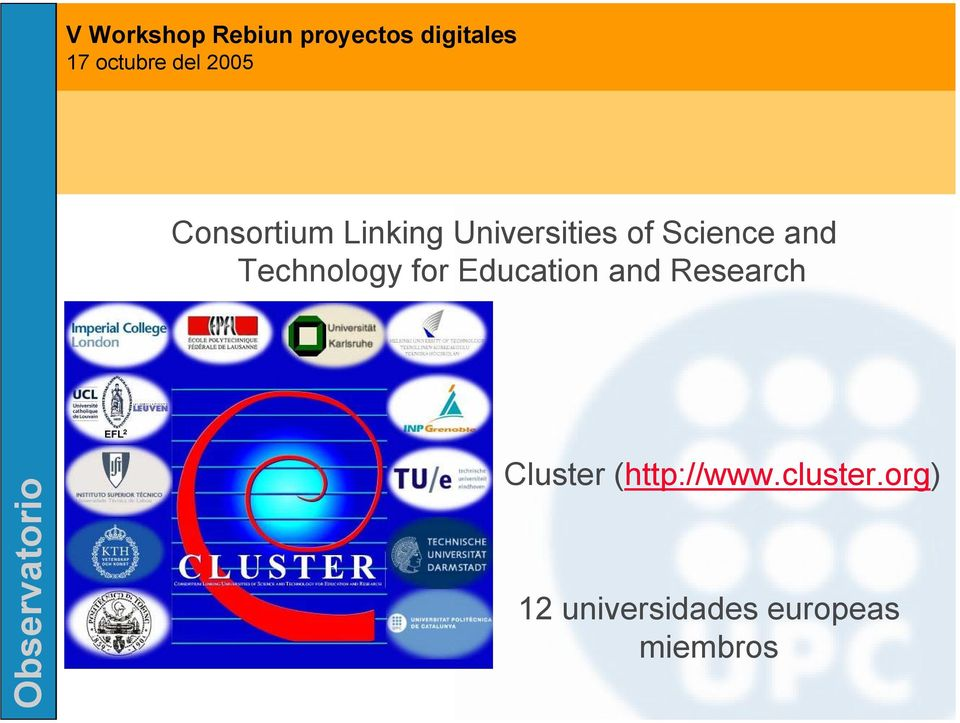 and Research Cluster (http://www.