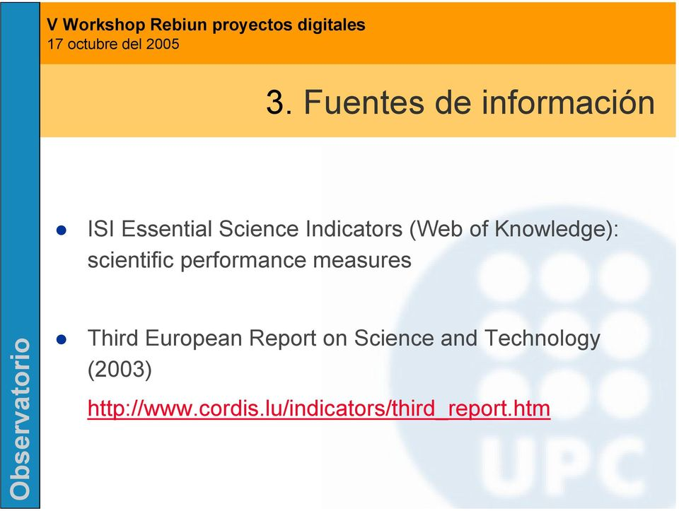 measures Third European Report on Science and