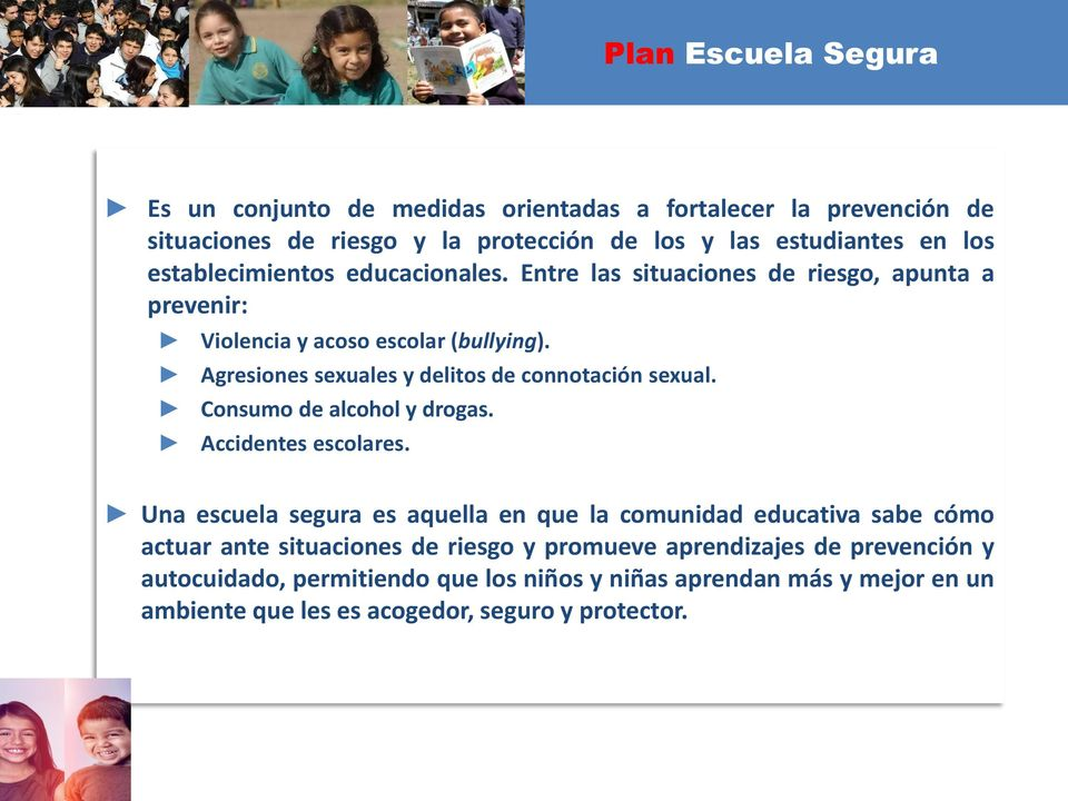 Agresiones sexuales y delitos de connotación sexual. Consumo de alcohol y drogas. Accidentes escolares.